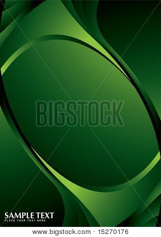 Green background with copy space and room for text