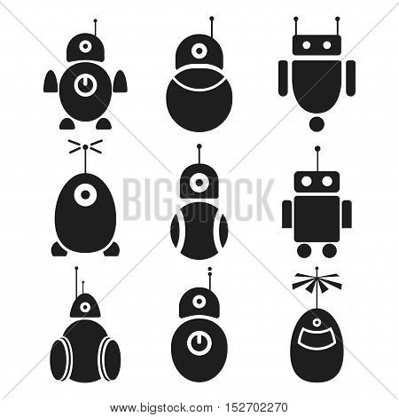 Logo robot, vector icon. For technology innovation. For the production of electronic equipment