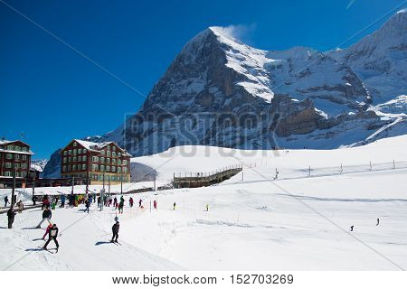 Alpine Ski Facility In Swiss Alps