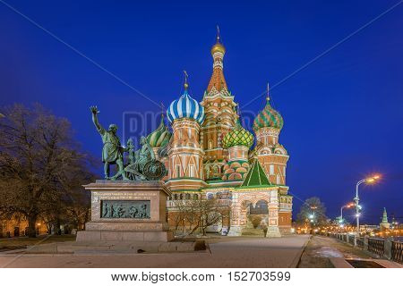 St. Basil's Cathedral in Moscow in the morning