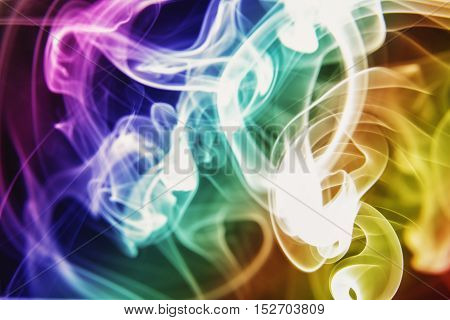 The Multi color smoke with shape backgrounds