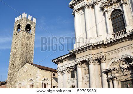 A view of the Piazza del Duomo and medieval Brescia