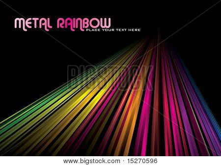 rainbow abstract background with line into the distance