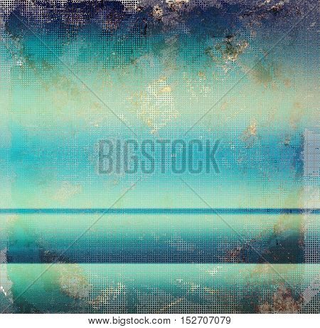 Vintage style designed background, scratched grungy texture with different color patterns: yellow (beige); brown; gray; blue; cyan