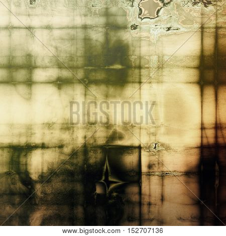 Ancient texture or damaged old style background with vintage grungy design elements and different color patterns: yellow (beige); brown; gray; green; black; white