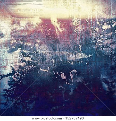 Grunge texture in ancient style, aged background with creative decor and different color patterns: yellow (beige); blue; purple (violet); pink; cyan
