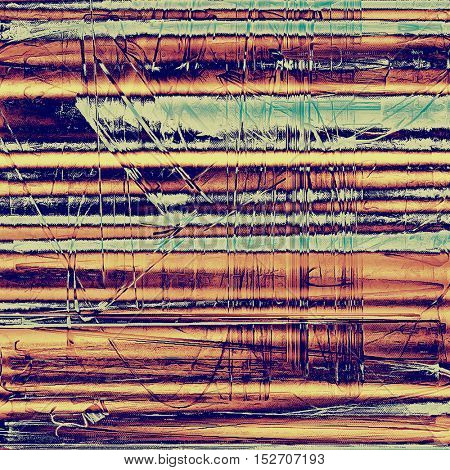Retro background with vintage style design elements, scratched grunge texture, and different color patterns: yellow (beige); brown; blue; red (orange); purple (violet); pink