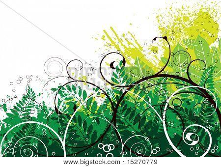 Herbstfarben auf ein floral gotischen Bild ideal als Hintergrund