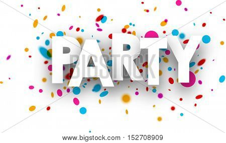 Party paper background with color drops. Vector illustration.