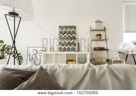Open Plan House With Sofa