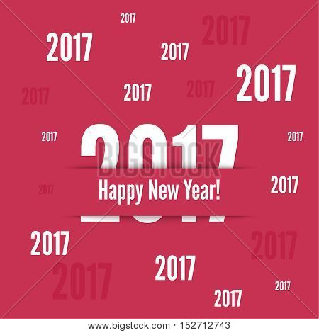 2017 Happy new year background. for greeting card, flyer, invitation, poster, brochure, banner calendar Christmas Meeting events