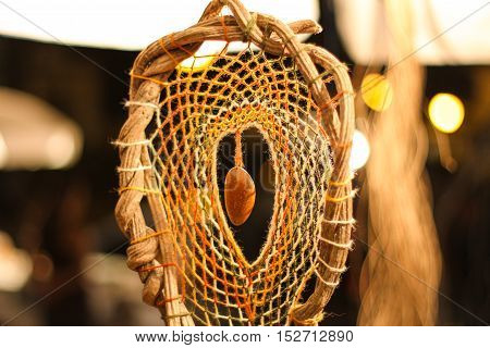 Dream Catcher at night with a soft background