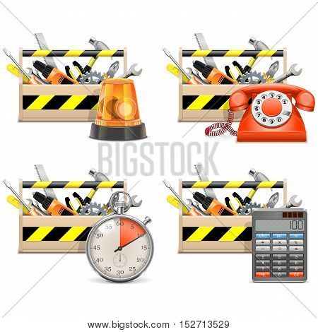 Vector Toolbox Icons set 2 isolated on white background