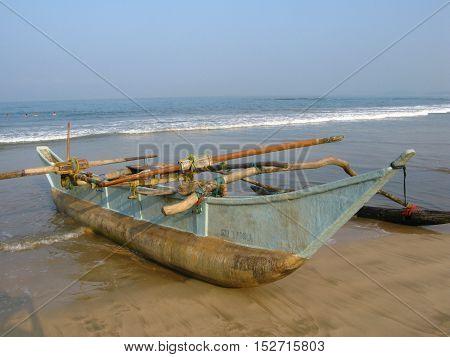 Fishing boat on the ocean, Bentota, Sri Lanka