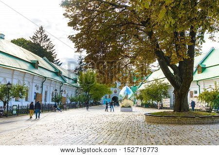 Kiev, Ukraine - May 20:unidentified Tourists Are Visiting  Pechersk Lavra - National Historic-cultur