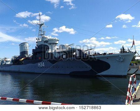 Eagle - Polish warship in Gdynia Port