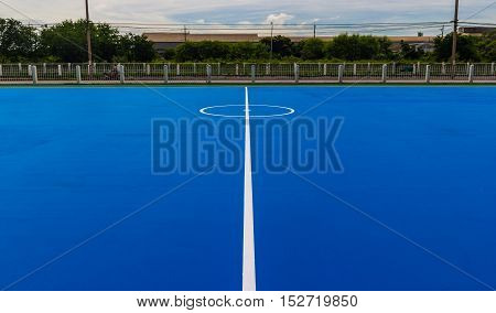 Futsal field. for the Play and exercise