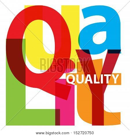 Vector Quality. Isolated confused broken colorful text