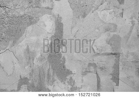Wet plaster wall texture. Raw concrete wall background.