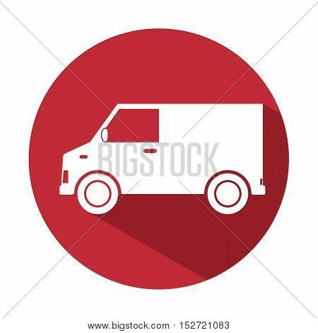truck van delivery service design icon vector illustration