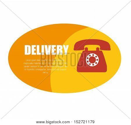delivery service telephone design icon vector illustration