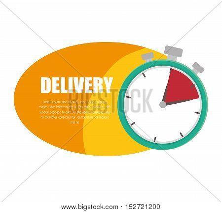 delivery service time design icon vector illustration