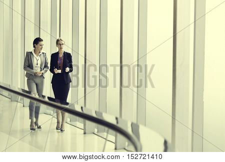 Businesswoman Corporate Colleagues Talking Concept