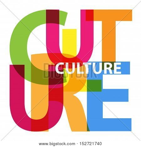 Vector culture. Isolated confused broken colorful text