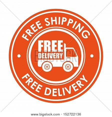 sign free shipping delivery truck icon vector illustration