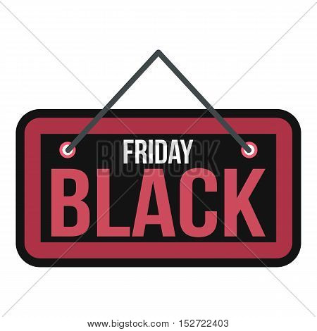 Black Friday sale signboard icon. Flat illustration of Black Friday sale vector icon for web design