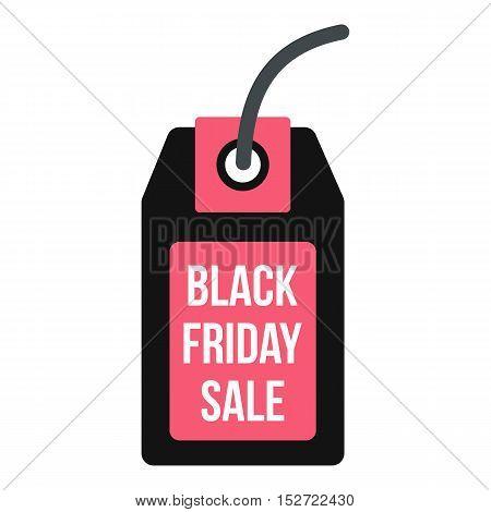 Black Friday sale tag icon. Flat illustration of Black Friday sale vector icon for web design