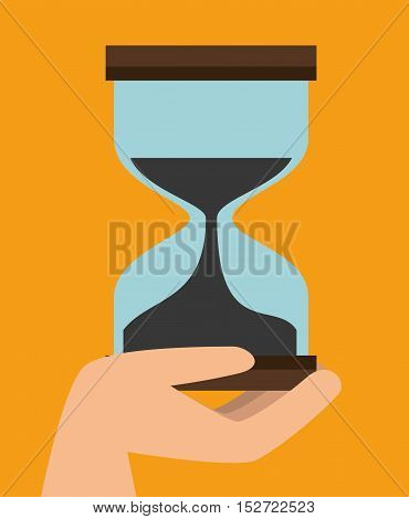 fast delivery concept sand clock time icon graphic vector illustration