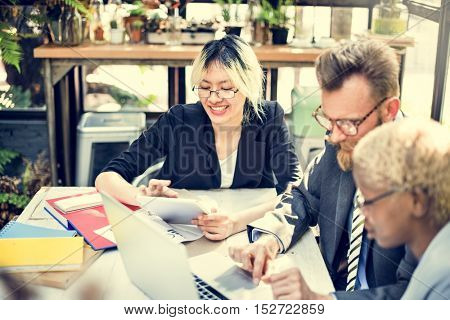 Business People Brainstorming Discussion Corporate Concept