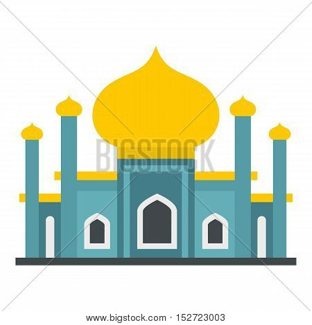 Muslim mosque icon. Flat illustration of mosque vector icon for web design