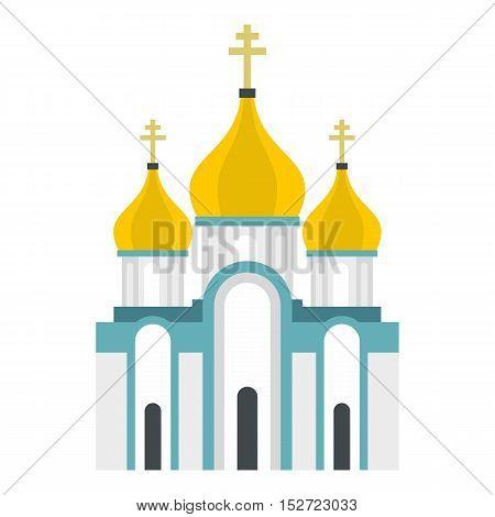 Orthodox church icon. Flat illustration of church vector icon for web design