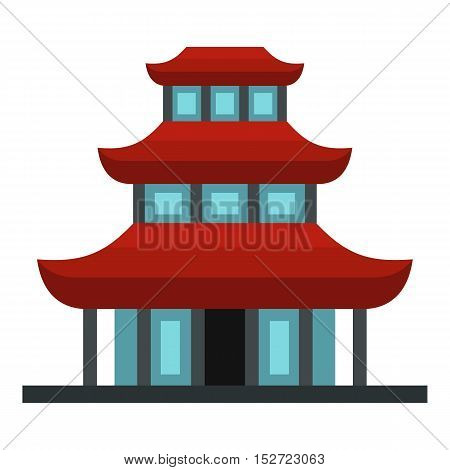 Buddhist temple icon. Flat illustration of buddhist temple vector icon for web design