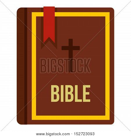 Bible book icon. Flat illustration of Bible vector icon for web design