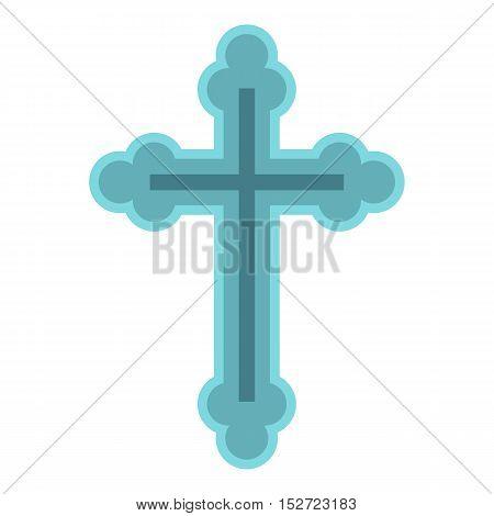 Christian cross icon. Flat illustration of cross vector icon for web design