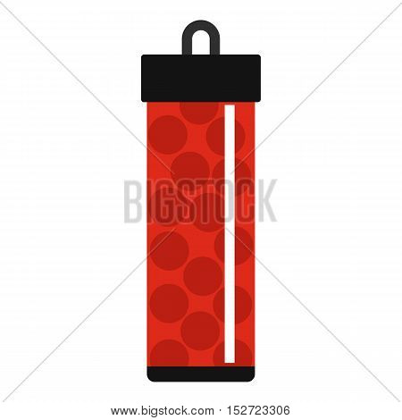Red pack with paintball bullets icon. Flat illustration of paintball bullets vector icon for web design