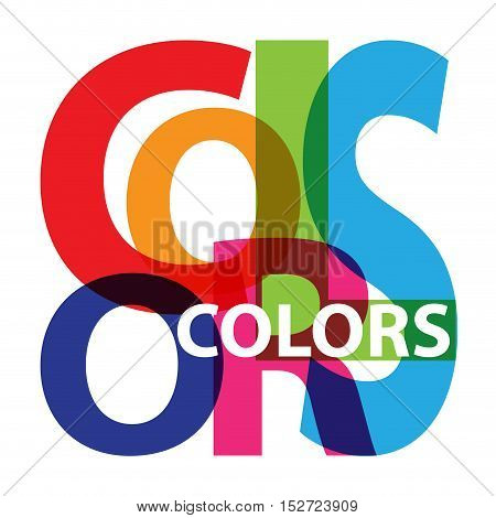 Vector colors. Isolated confused broken colorful text