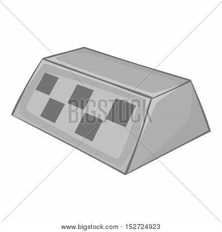 Checker taxi icon. Gray monochrome illustration of checker taxi vector icon for web