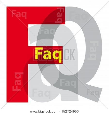 Vector faq. Isolated confused broken colorful text