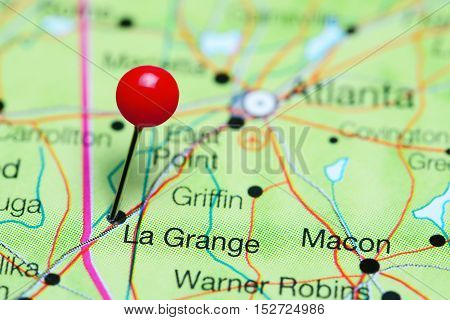 La Grande pinned on a map of Georgia, USA