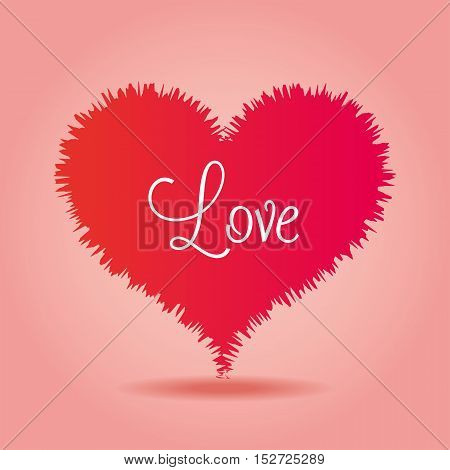 love heart over pink background icon vector illustration eps 10