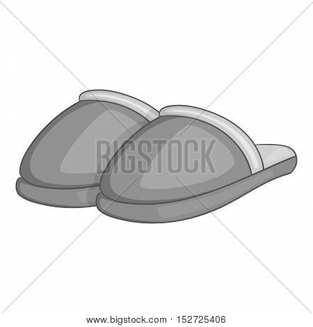 Home slippers icon. Gray monochrome illustration of home slippers vector icon for web