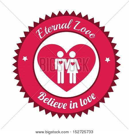 couple believe in love, eternal love sign vector illustration eps 10