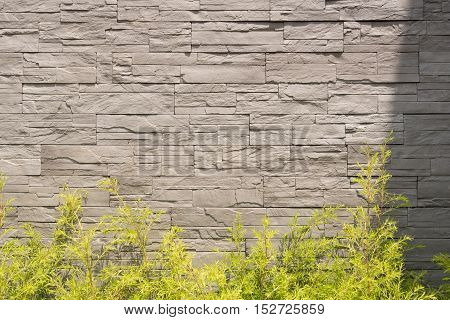 Pattern of decorative slate stone wall texture and background.
