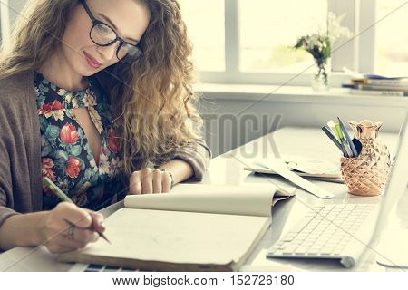 Businesswoman Signing Contract Agreement Concept