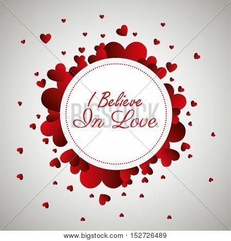 greeting i believe in love design vector illustration eps 10