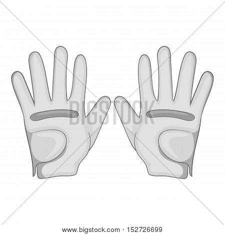 Golf gloves icon. Gray monochrome illustration of golf gloves vector icon for web